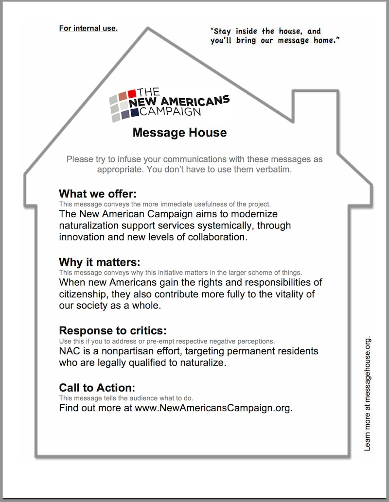 nac message house example
