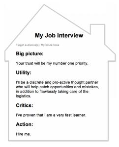 job interview message house